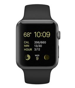Apple iWatch Smart watch with downloadable apple store apps to streamline patient care