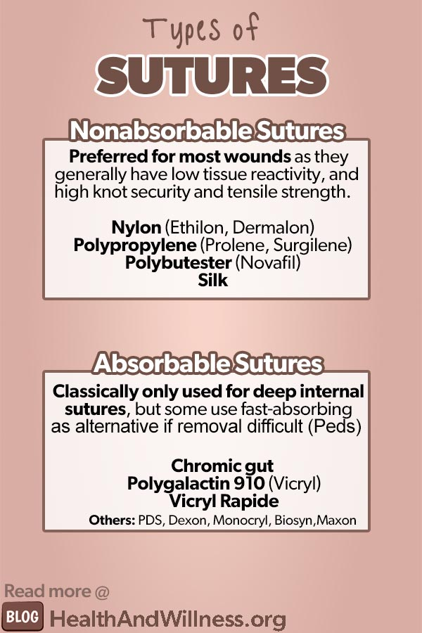 How to suture absorbable vs nonabsorbable sutures