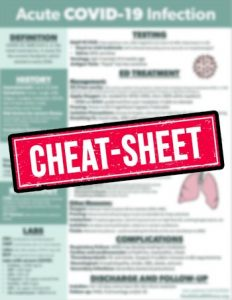 COVID cheat sheet promotional image