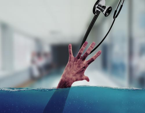 Nurse drowning at work